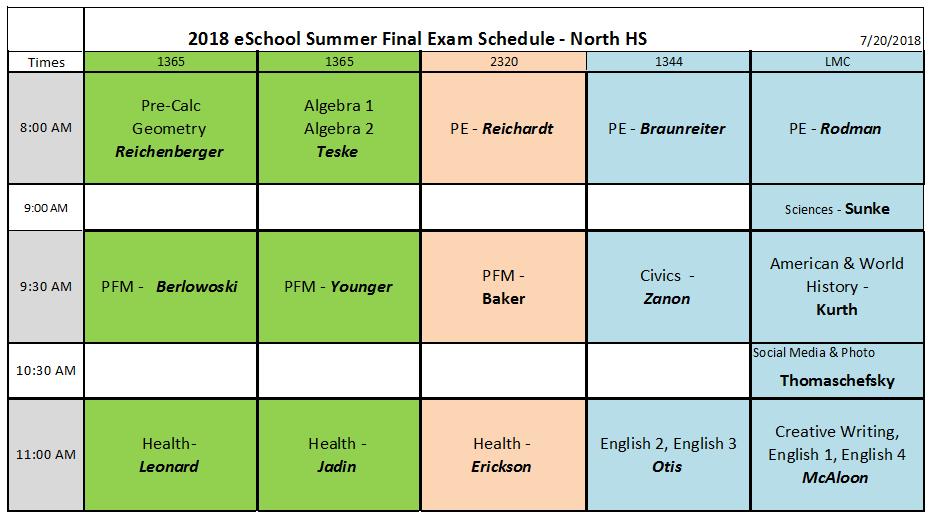 Summer Proctored Final Exam Information - Appleton eSchool
